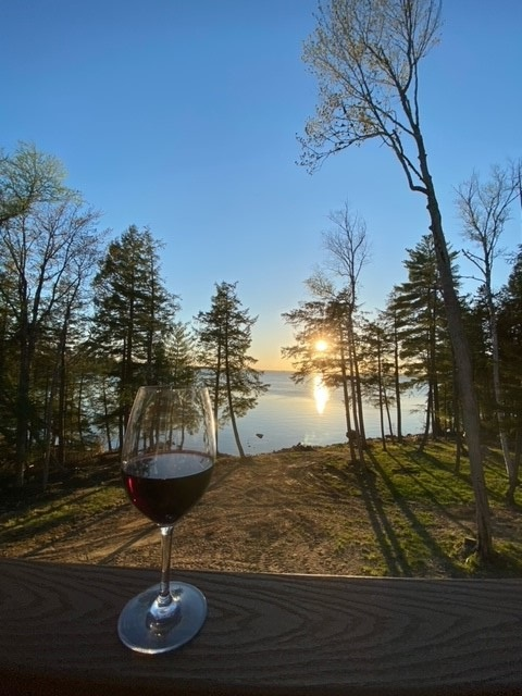 Wine Sunset Photo